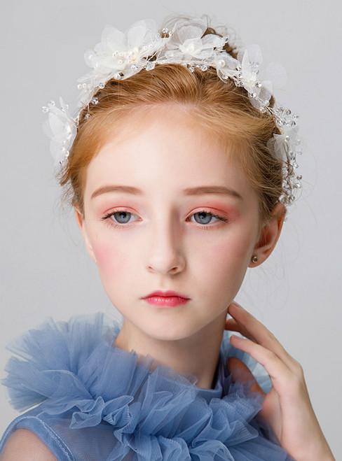Children's Headdress White Flower Flower Girl Hair Accessories