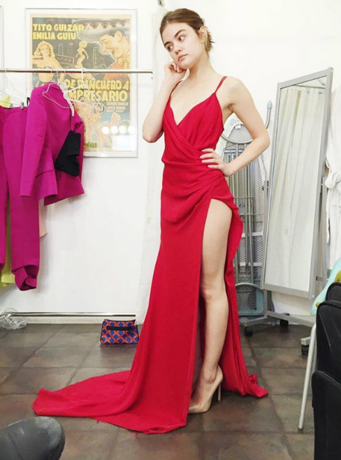 Prom Dresses Princess Prom Dress Red Prom Gown Simple Party Gowns