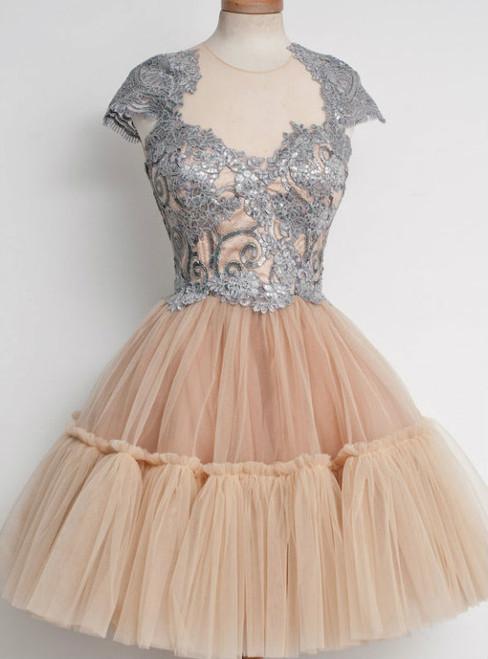 Elegant Homecoming Dress Knee-length Homecoming Dress  Junior Homecoming Dress