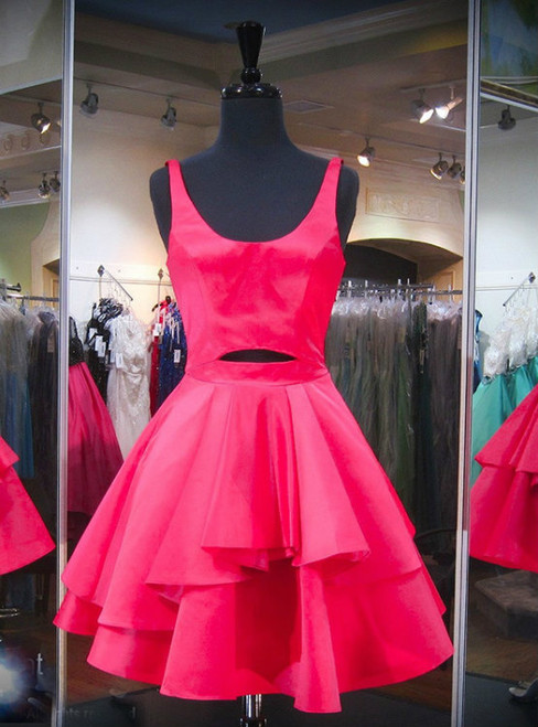 Short Homecoming Dresses Hot Pink Homecoming Dresses Short Party Dresses