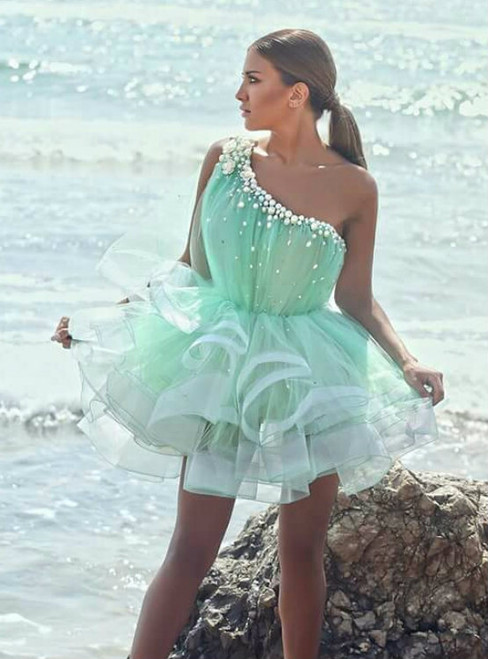 Party Dress Short Prom Gown Sweet 16 Dress Mint Homecoming Gowns
