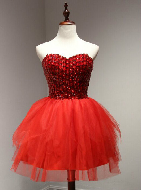Homecoming Dress  red Short Homecoming Dresses  Short Prom Dress