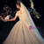 Champagne Tulle Lace Off the Shoulder Corset Wedding Dress With Pearls
