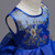 In Stock:Ship in 48 Hours Blue Hi Lo Organza Appliques Girl Dress