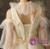 A-Line Champagne Tulle V-neck Cold Shoulder Half Sleeve Wedding Dress