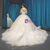 Ivory Ball Gown Tulle Appliques Off the Shoulder Wedding Dress With Train
