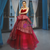 Burgundy Ball Gown Tulle Sequins Sweetheart Luxury Prom Dress
