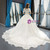 White Ball Gown Tulle Appliques Short Sleeve Wedding Dress With Train