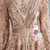 Champagne Gold Sequins Long Sleeve Backless Prom Dress