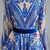 A-Line Royal Blue Sequins Long Sleeve Backless Prom Dress