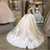 White Ball Gown Satin Off the Shoulder Appliques Wedding Dress With Beading