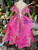 A-Line Fuchsia Tulle Appliques Long Flower Girl Dress