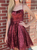 A-Line Burgundy Sequins Spaghetti Straps Short Homecoming Dress