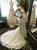 Sexy White Mermaid Lace V-neck Long Sleeve Wedding Dress