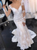 Ivory Memraid Lace Long Sleeve See Through Back Wedding Dress