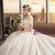 Ivory White Satin Ball Gown Off the Shoulder Appliques Wedding Dress