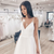 A-Line White Tulle Spagehtti Straps Appliques Wedding Dress