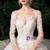 Ivory White Ball Gown Tulle Flower Long Sleeve Wedding Dress