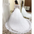 White Ball Gown Tulle Lace Long Sleeve Off the Shoulder Wedding Dress 2020