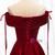 A-Line Burgundy Satin Off the Shoulder Prom Dress 2020