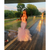 Pink Mermaid Tulle Halter Appliques Backless Prom Dress 2020