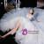 Shop Beautiful Off The Shoulder Long Train 3D Flowers Tulle Wedding Dress From Kemedress