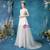 In Stock:Ship in 48 Hours White Tulle V-neck Beading Wedding Dress