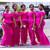 Fuchsia Mermaid Satin Off the Shoulder Bridesmaid Dress 2020