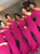 Fuchsia Mermaid Satin One Shoulder Bridesmaid Dress 2020