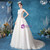 Long & Short Made-To-Measure In Stock:Ship in 48 Hours White Ball Gown Tulle V-neck Appliques Wedding Dress