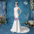 Instead, Opt For a Stylish In Stock:Ship in 48 Hours White Mermaid Satin Lace Appliques Wedding Dress