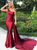 You Can Be The Star Burgundy Mermaid One Shoulder Backless Satin Formal Dress