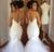 Luxury Royal Train Pearls Mermaid Wedding Dress Gowns Sexy Spaghetti Straps 2017