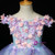 Come In All Styles And Colors Blue Ball Gown Tulle Hi Lo Appliqeus Flower Girl Dress