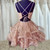 Pink Tulle Sequins Doulble Straps Sequins Homecoming Dress