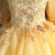 Order Your Ideal Gold Ball Gown Tulle Hi Lo Short Sleeve Appliques Flower Girl Dress