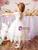 Discover The Latest White Ball Gown Tulle Beading Tea Length Flower Girl Dress