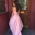 Pink Satin Two Piece High Low Long Prom Homecoming Dresses Lace Appliques