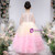 At Great Prices Pink Tulle Tiers Embroidery Appliques Sleeveless Flower Girl Dress