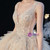 Buy From Dark Champagne Tulle Tiers V-neck Beading Wedding Dress With Train