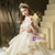 Best Discount And High Quality Champagne Tulle Lace Appliuqes Off the Shoulder Beading Wedding Dress