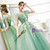 Stand Out With In Stock:Ship in 48 Hours Green Ball GownTulle Appliques Quinceanera Dress