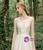 Lovely Champagne Tulle Sequins V-neck Backless Wedding Dress