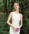 White Mermaid Satin Appliques Illusion Back Wedding Dress
