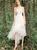 White Tulle Lace Hi Lo Sweetheart Short Wedding Dress