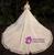 Tulle Sequins 3/4 Sleeve Beading Sash Champagne Wedding Dress