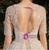 Tulle Sequins See Through V-neck Short Sleeve Beading Backless Wedding Dress