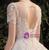 Ball Gown Sequins Short Sleeve Beading Backless Wedding Dress