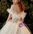 Tulle Corset Off the Shoulder Appliques Beading Wedding Dress