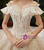 Champagne Tulle Sequins Off the Shoulder Beading Corset Wedding Dress